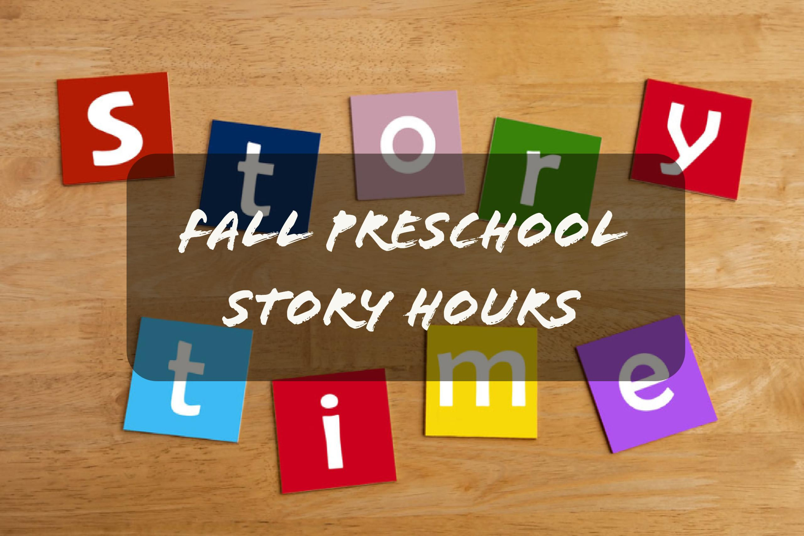 Fall Preschool Story Hours