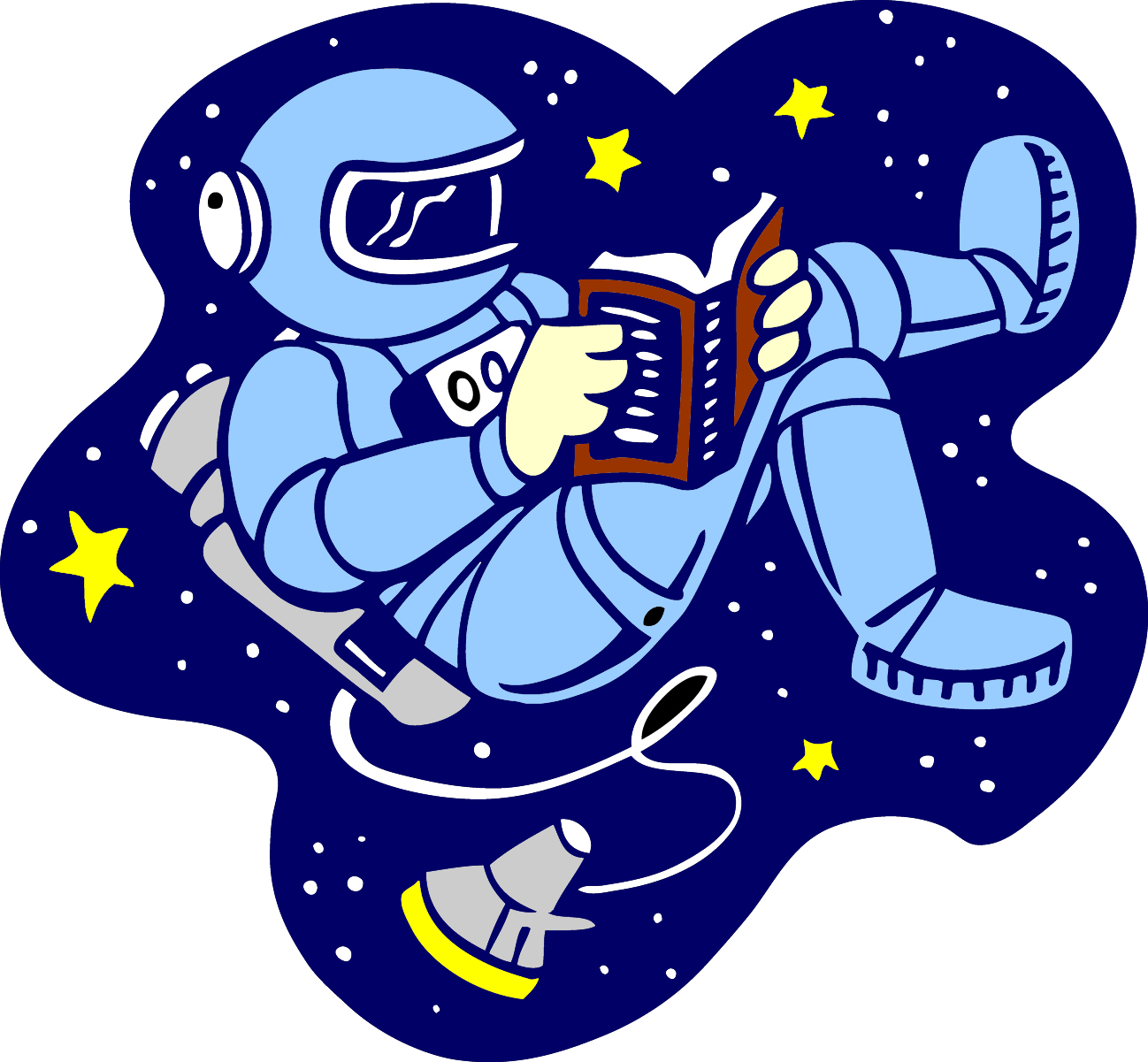 astronauts in space reading books - photo #34